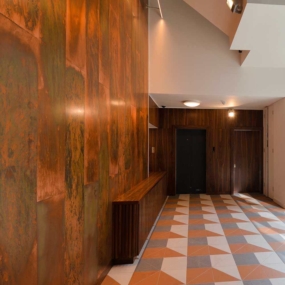 Modern stylish office space reception after refurbishment