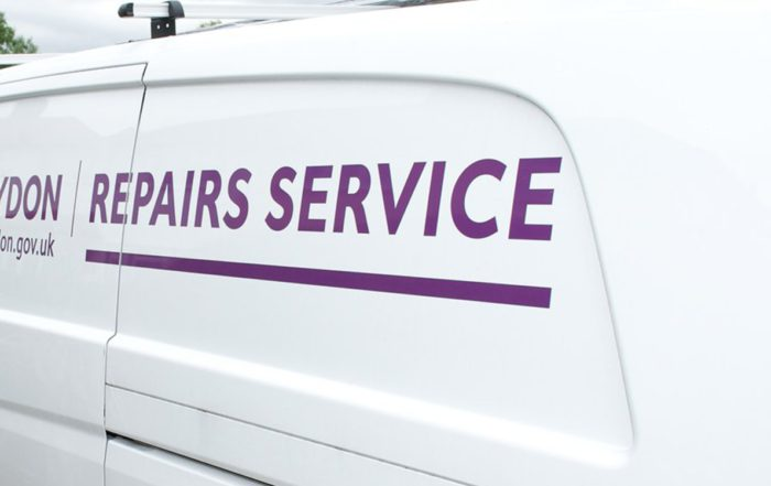 Axis repairs service van for Croydon void property repairs