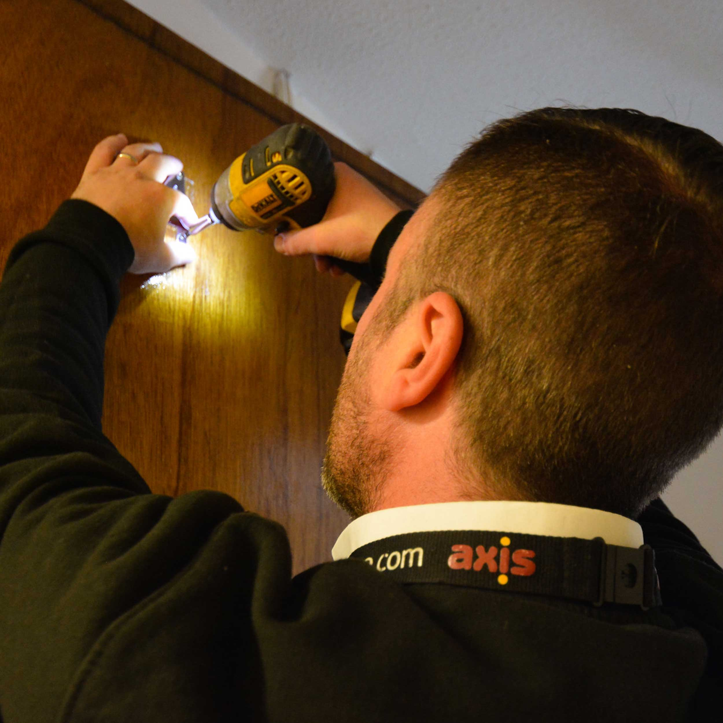 Axis operative carrying out void repairs on a property