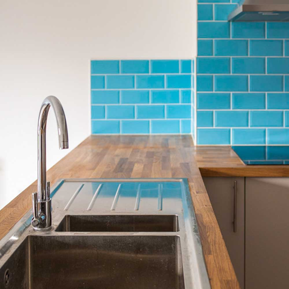 kitchen sink and tap in a kitchen refurbishment part of a housing conversion project
