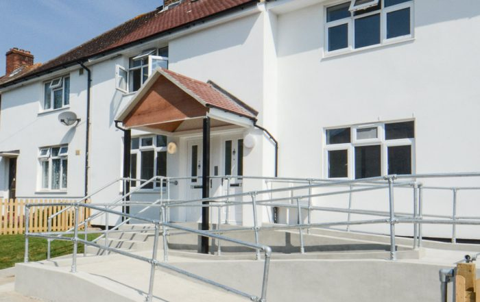 Conversions applied to a residential property to allow for disabled access via a ramp