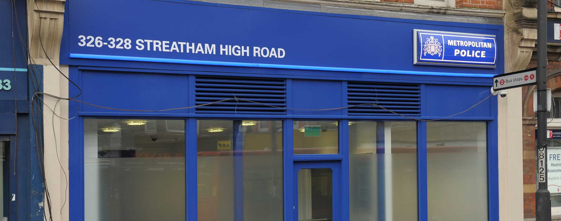 Police station in streatham high road