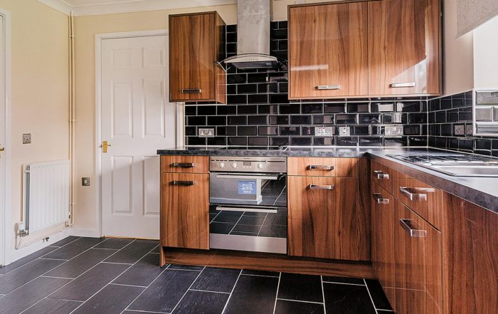 Large kitchen in residential property