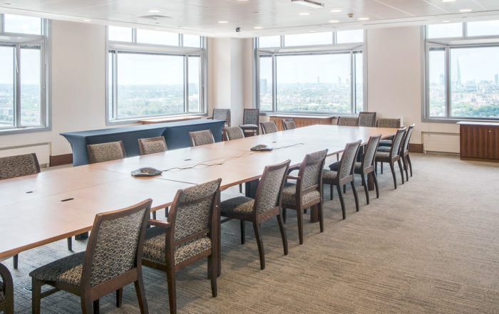 large seminar space inside London office