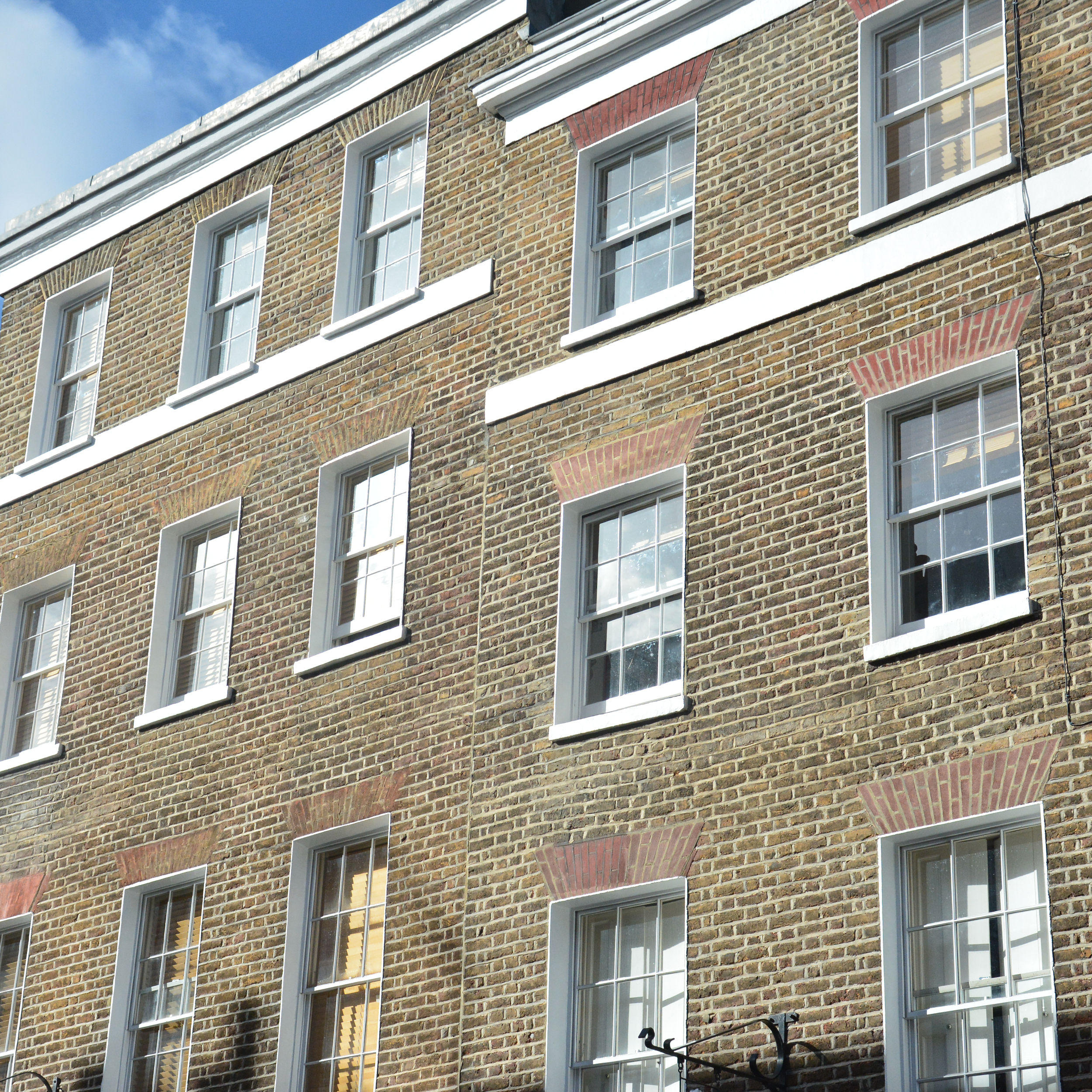 Period property in central London showcasing the external restoration work carried out by axis