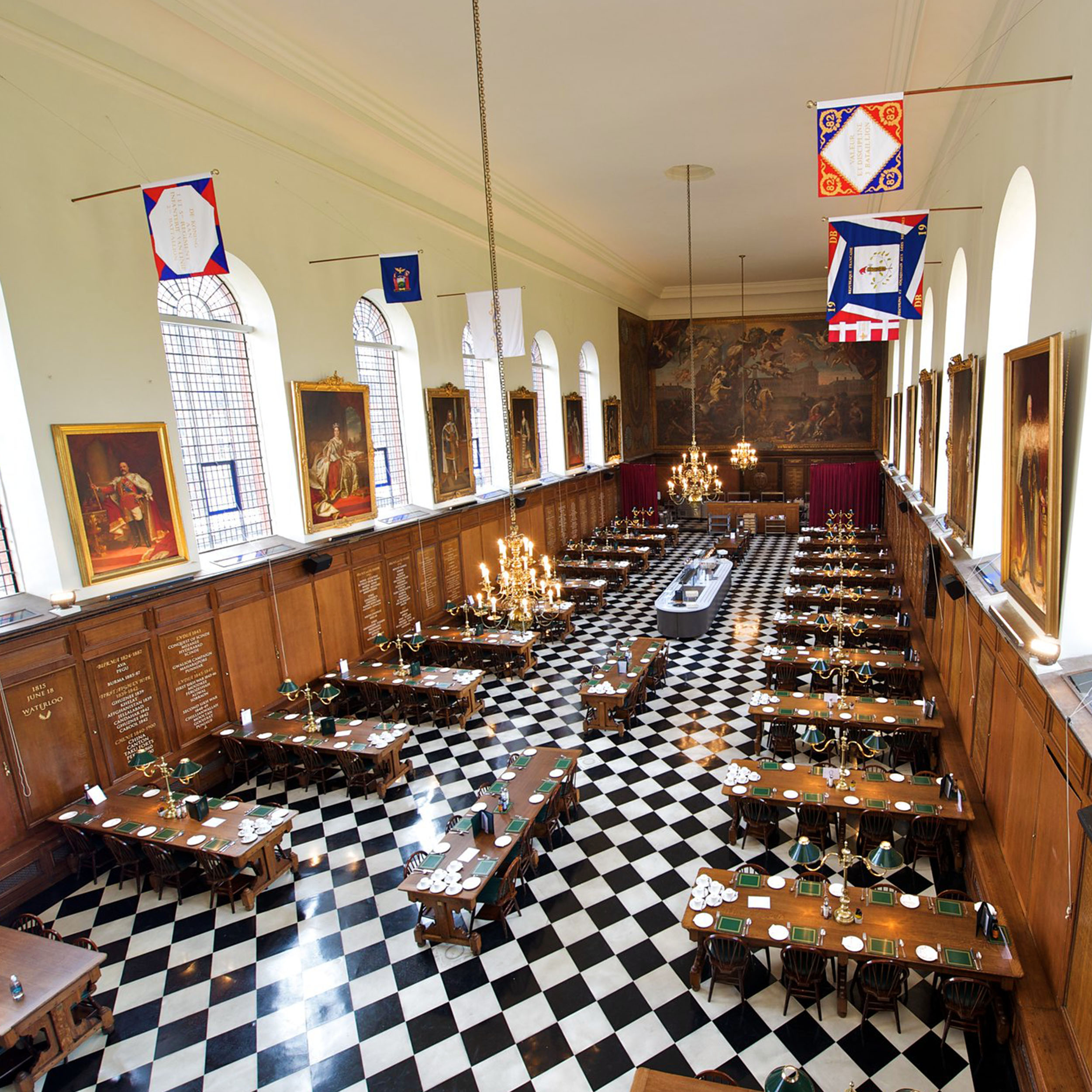 Grand hall of the Royal Chelsea hospital