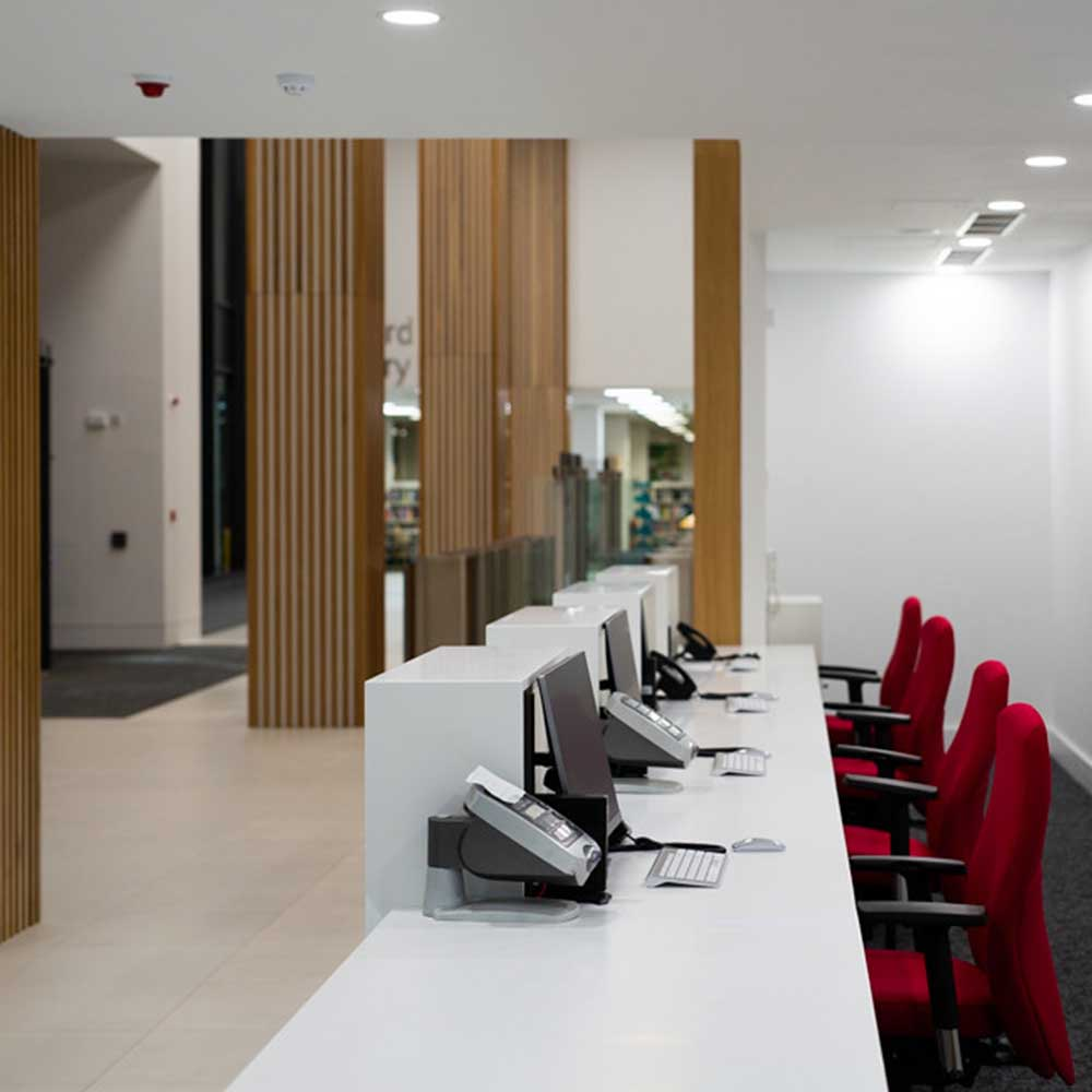 Refurbished reception area in Lewisham