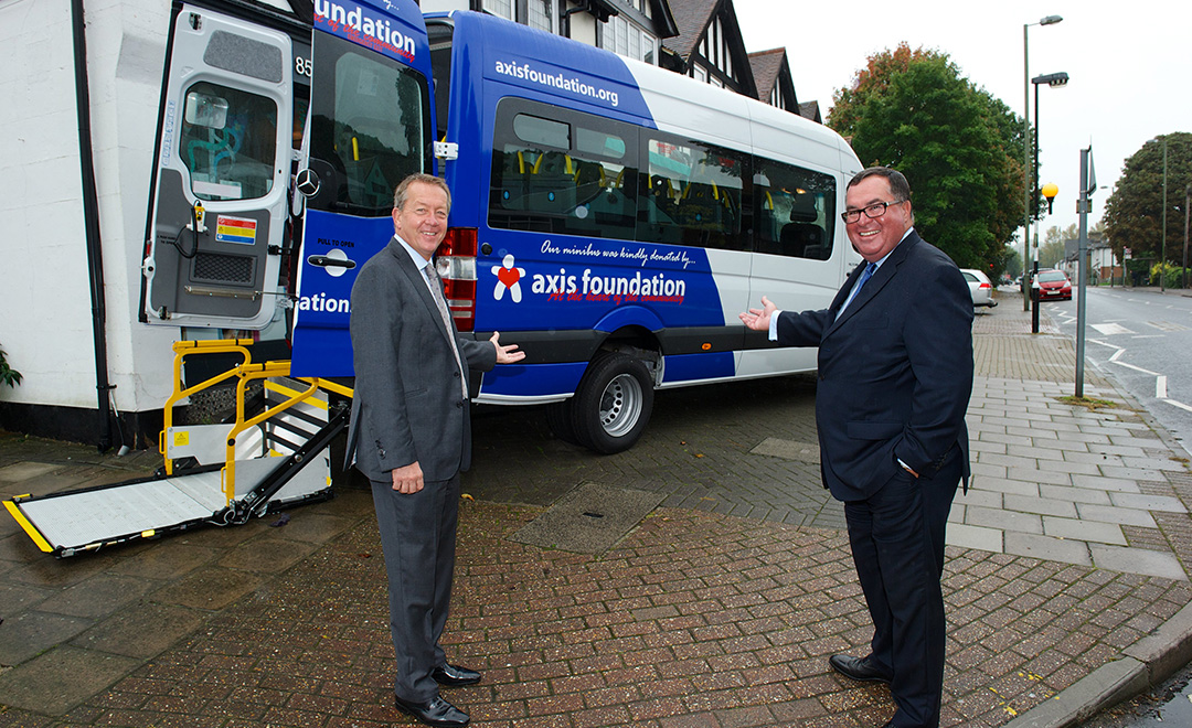 Axis Foundation trustees donate a minibus to a small local and impactful charity in south east London