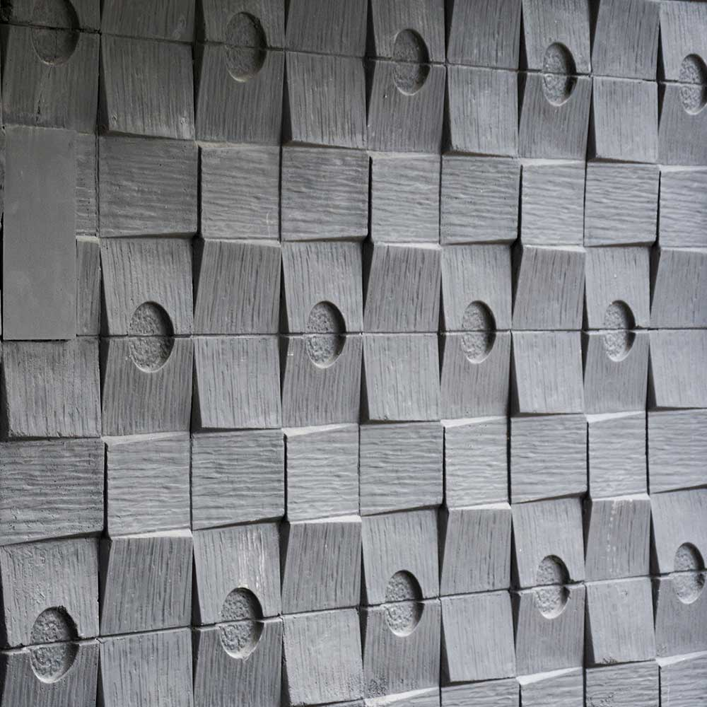 Textured wall inside a MET police station that was recently repaired by Axis
