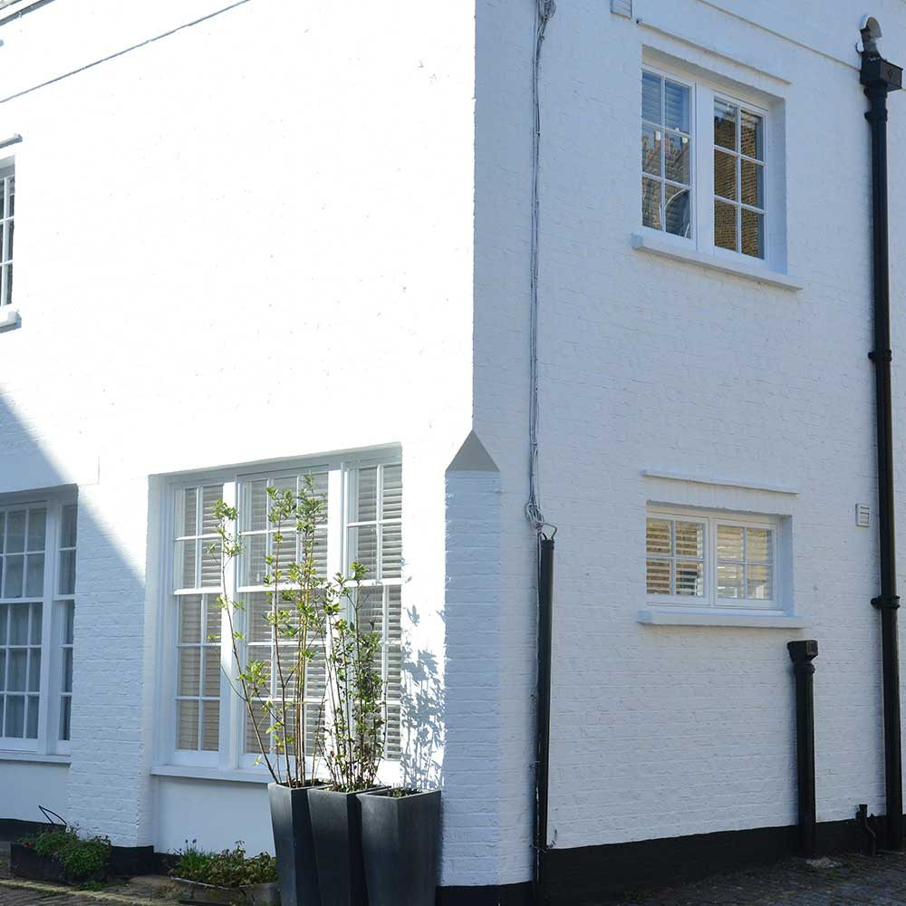 Period property exterior wall and windows