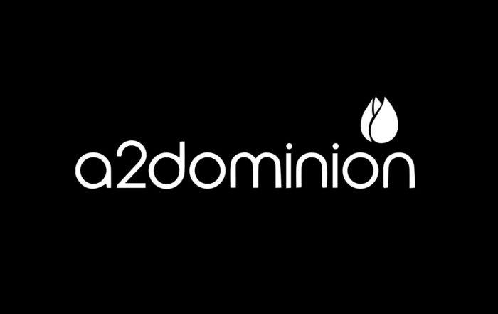 A2 dominion Logo on a black background