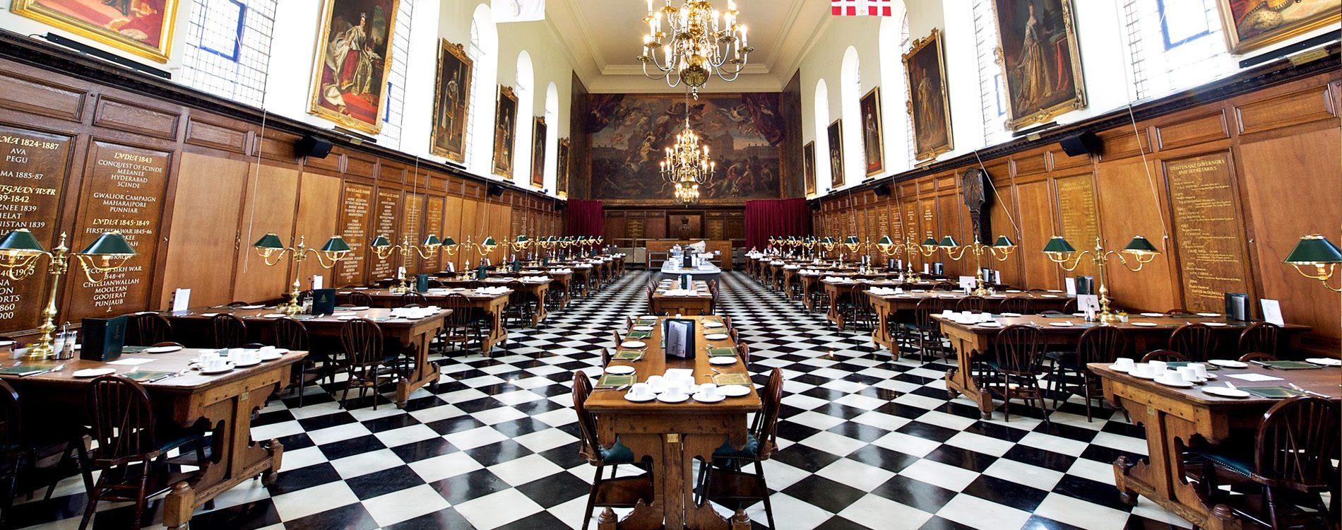 Huge open hall inside royal Chelsea hospital