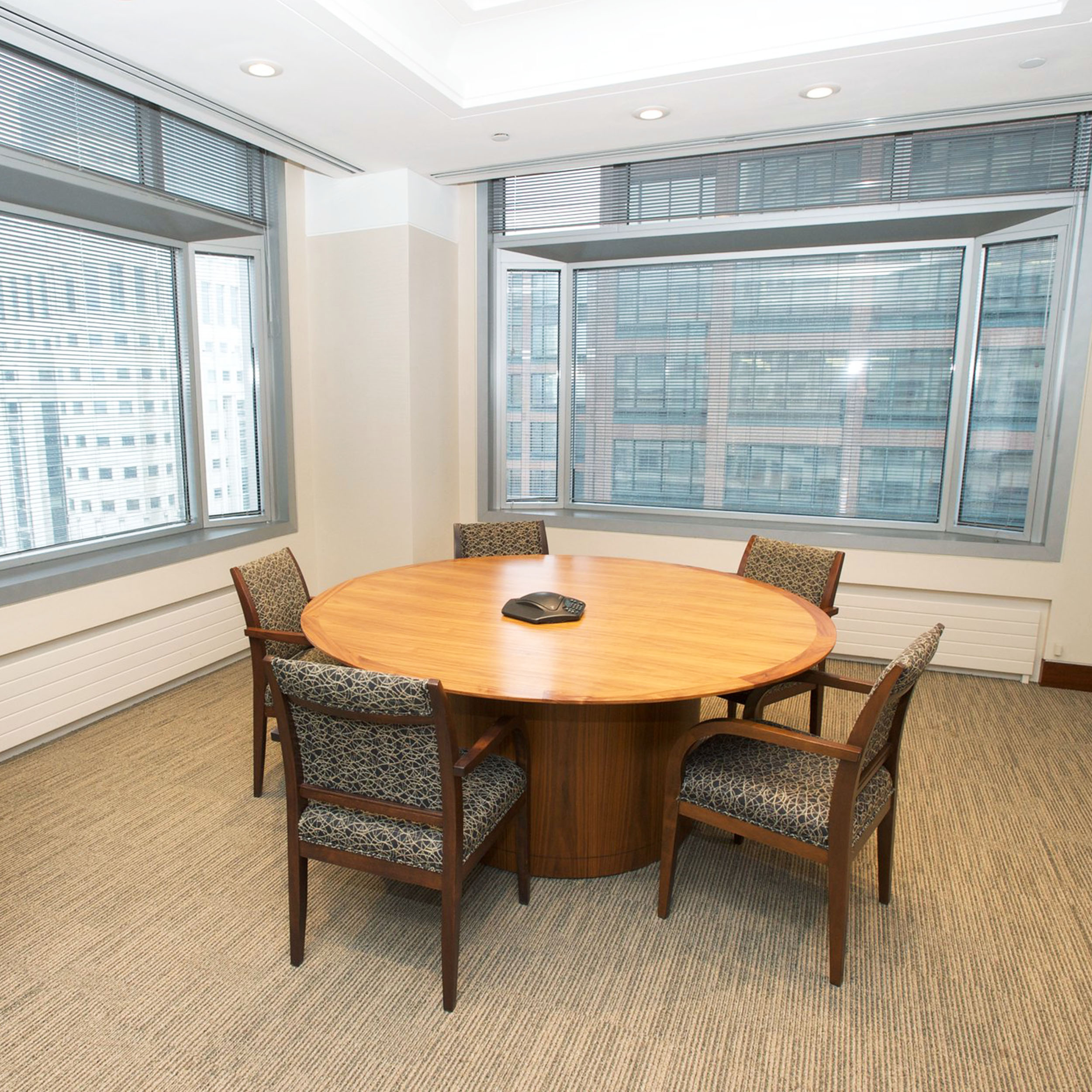 meeting room inside an upgraded office space