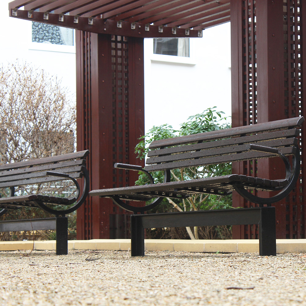 Fresh painted benches part of axis apprentices work