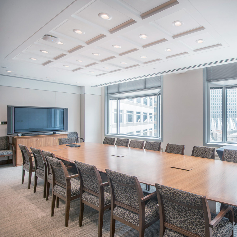 high rise office meeting room after upgrades