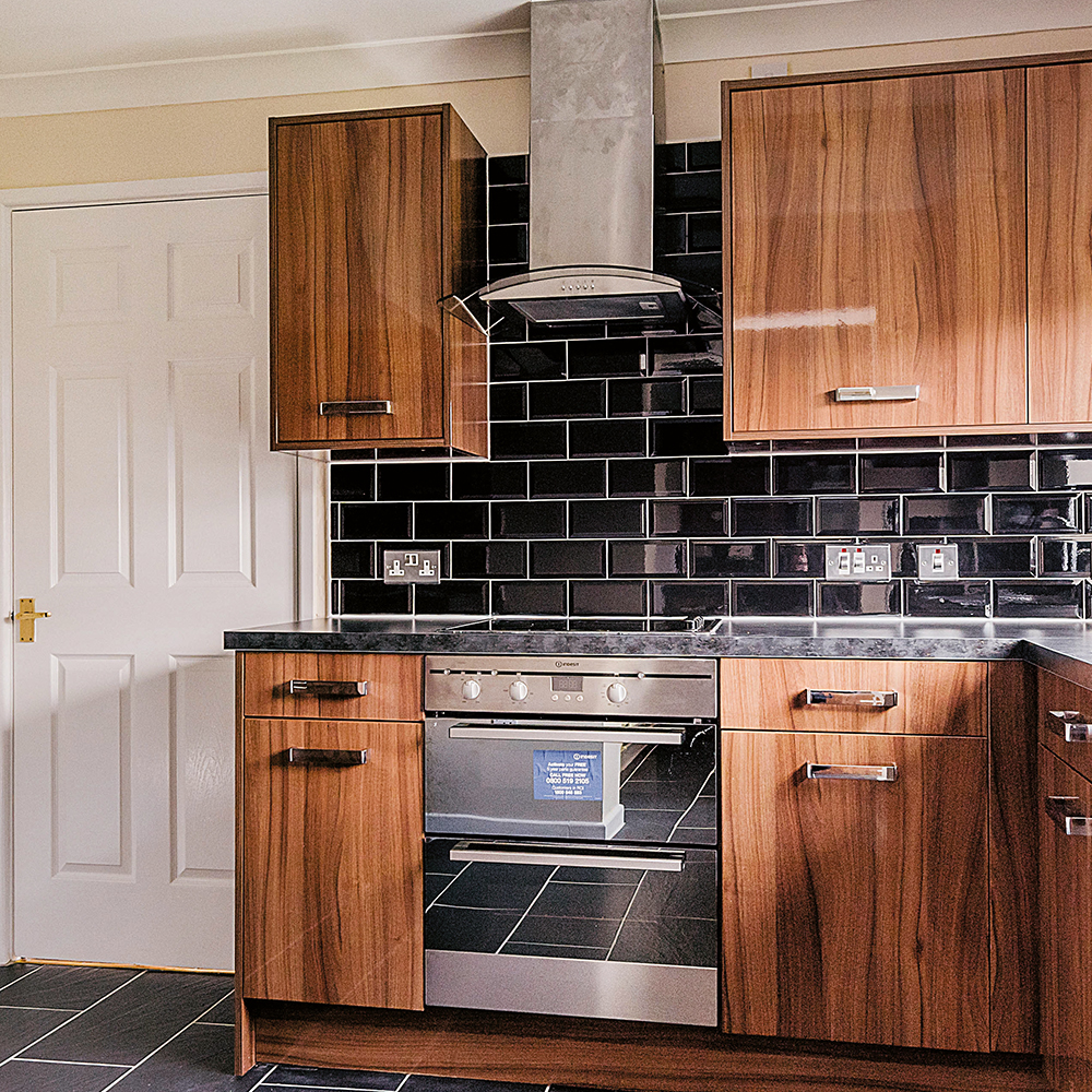 Kitchen space in refurbished kitchen at MOD Cosford