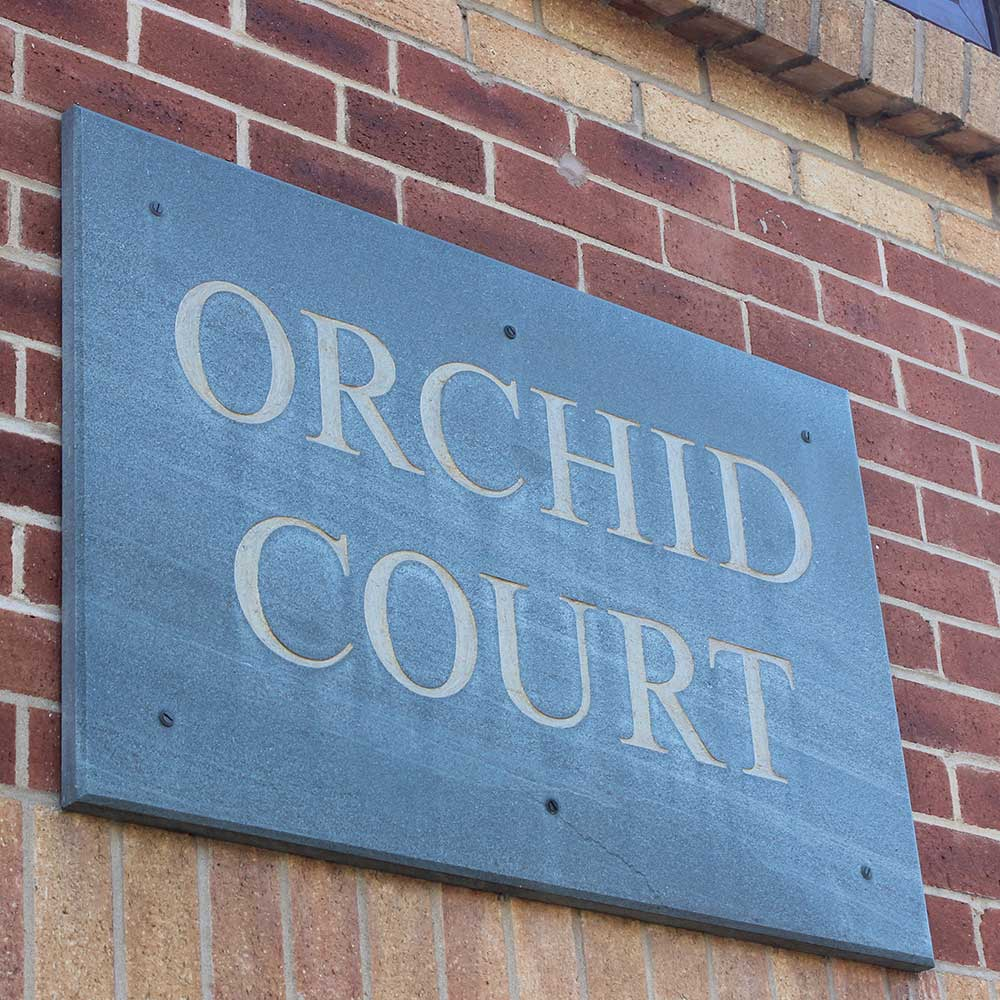 Orchid court house signage