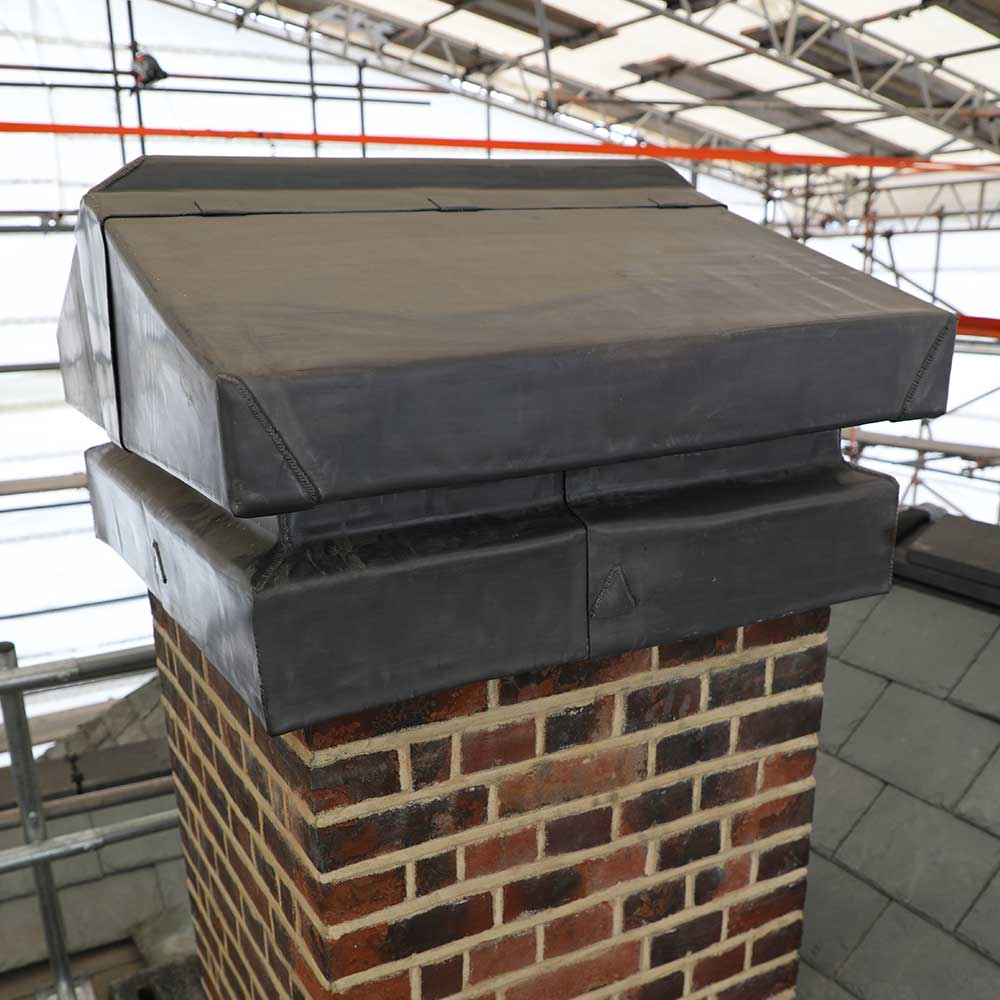 lead flashing added to the roof of a heritage building in Bromley