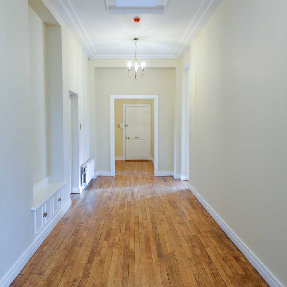 Bright and spacious hallway inside a high end property