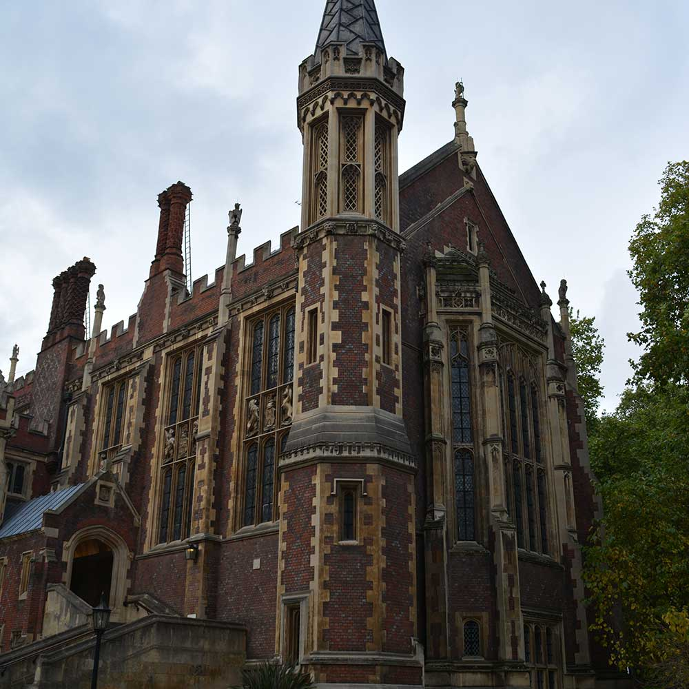 Large gothic heritage building after restoration works