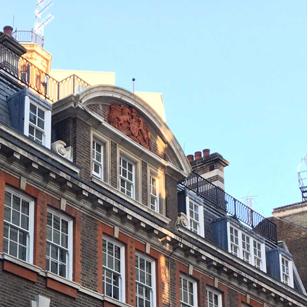 Exterior of old scotland yard showing the roof after refurbishment works