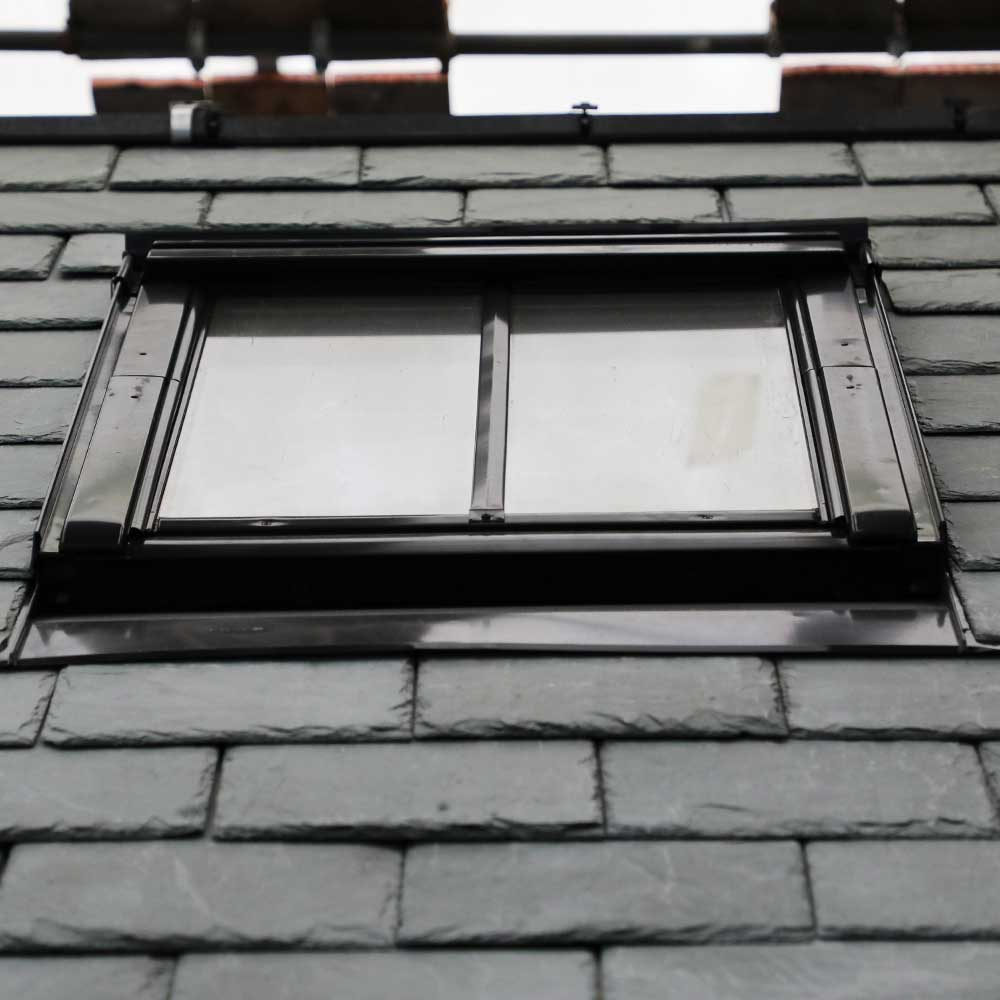 New skylight windows installed on a heritage building
