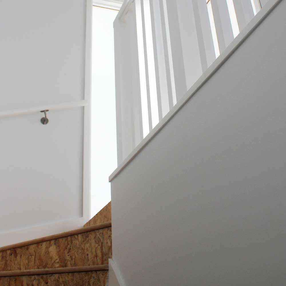 Staircase before carpeting has been fitted