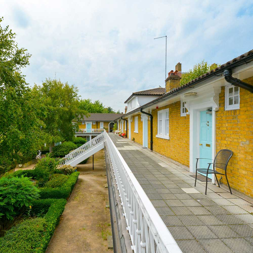 Colourful residential property in London after refurbishment works