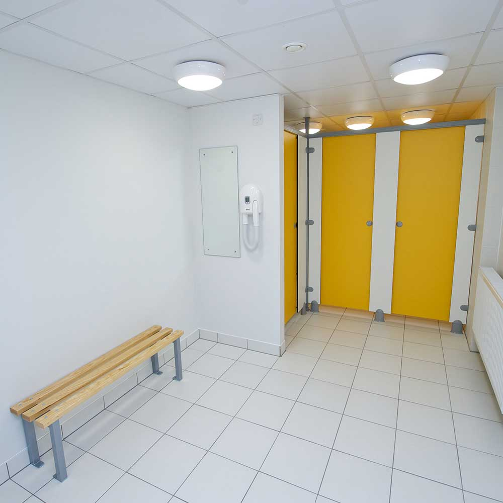 Bathroom inside a MET police building