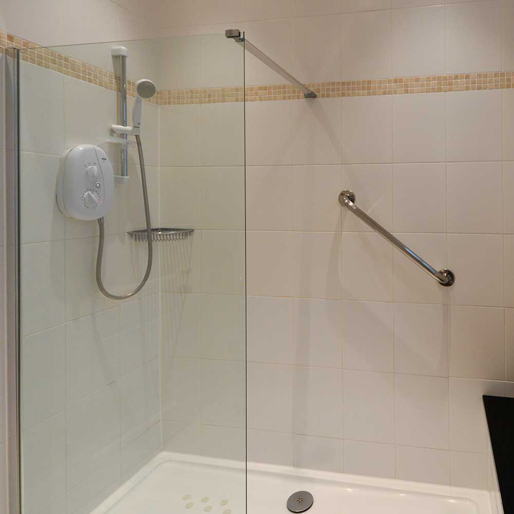 Shower inside a high end refurbishment
