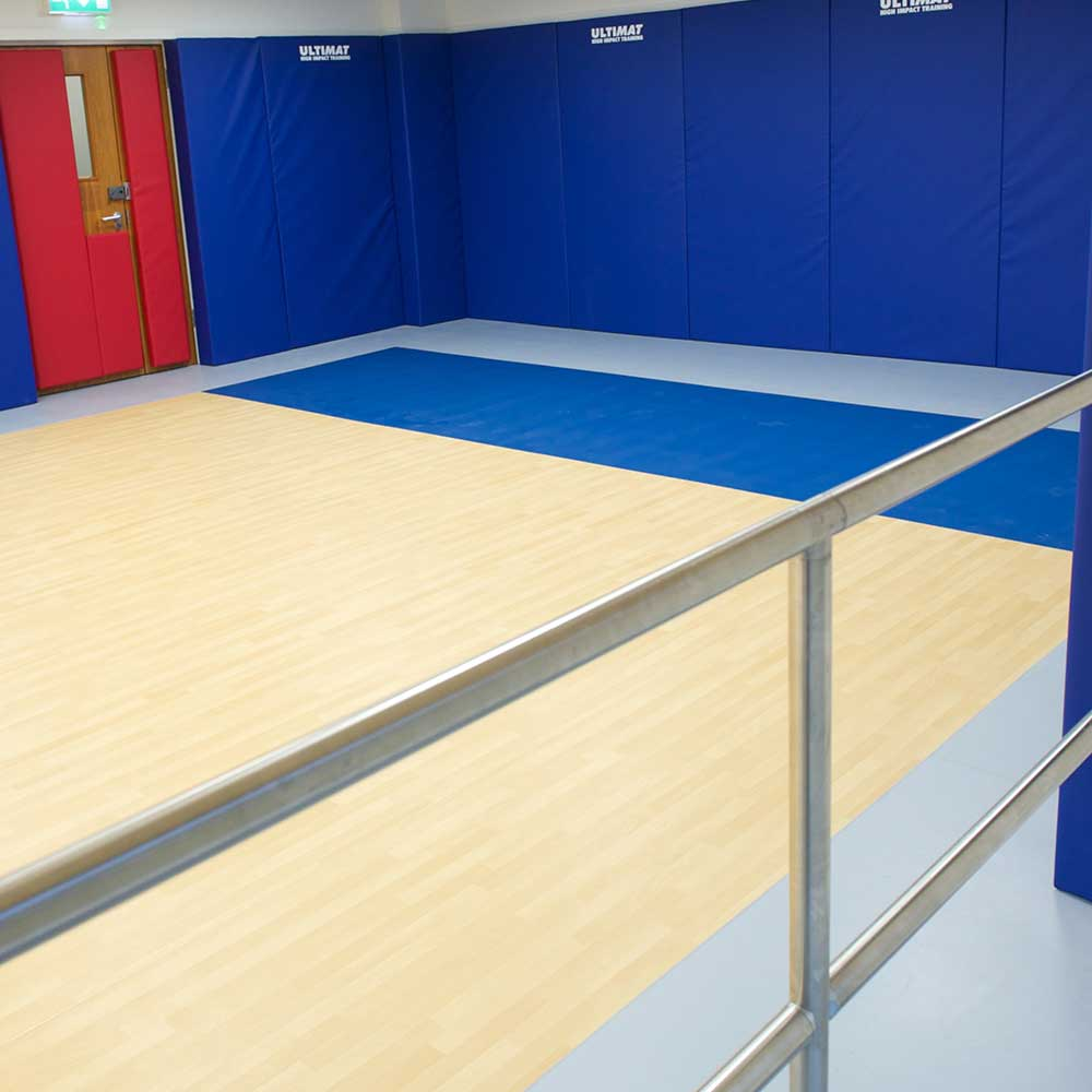 Gymnasium floor after renovation