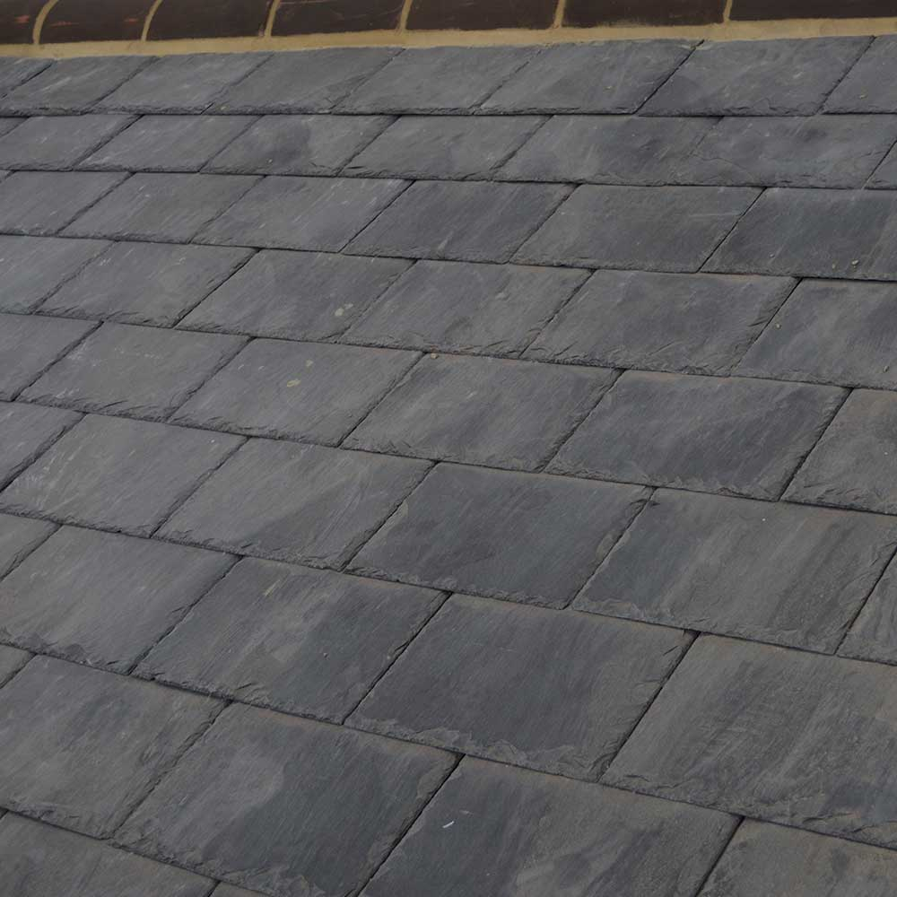 new slate roofing covers a heritage property