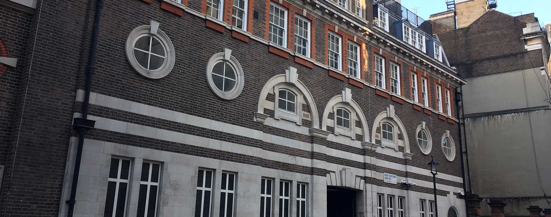 Scotland yard heritage project front façade after roof renewal