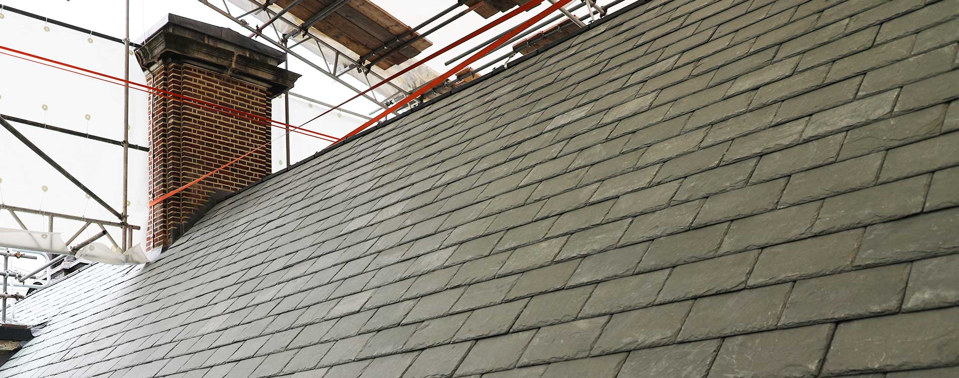 Large roof with new slate installed at Bromley town hall