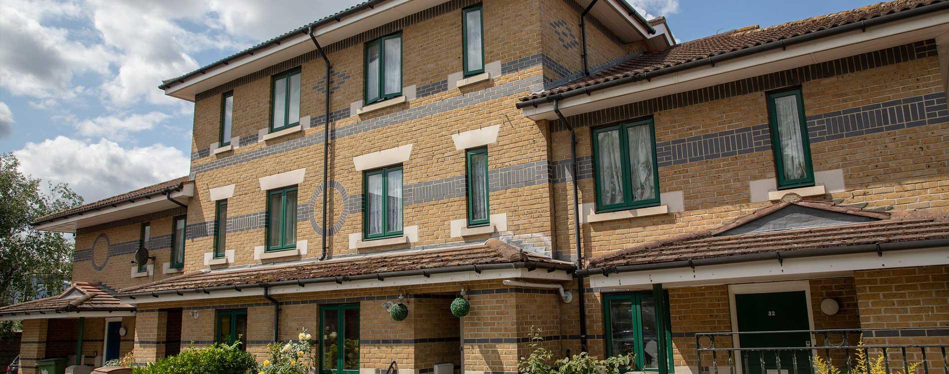 Residential estate block after external maintenance works