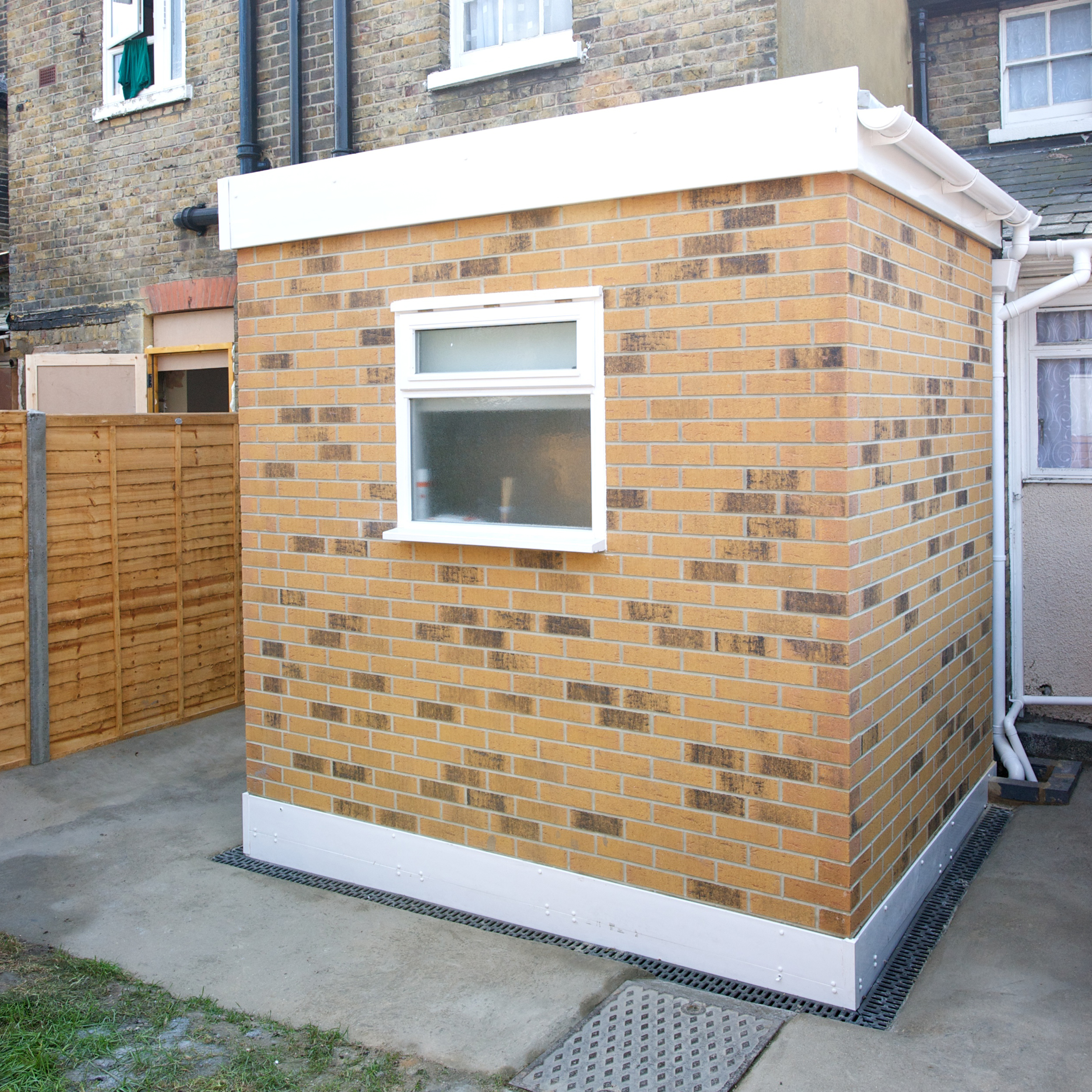 Modular room added to a residential property as part of a bathroom extension project