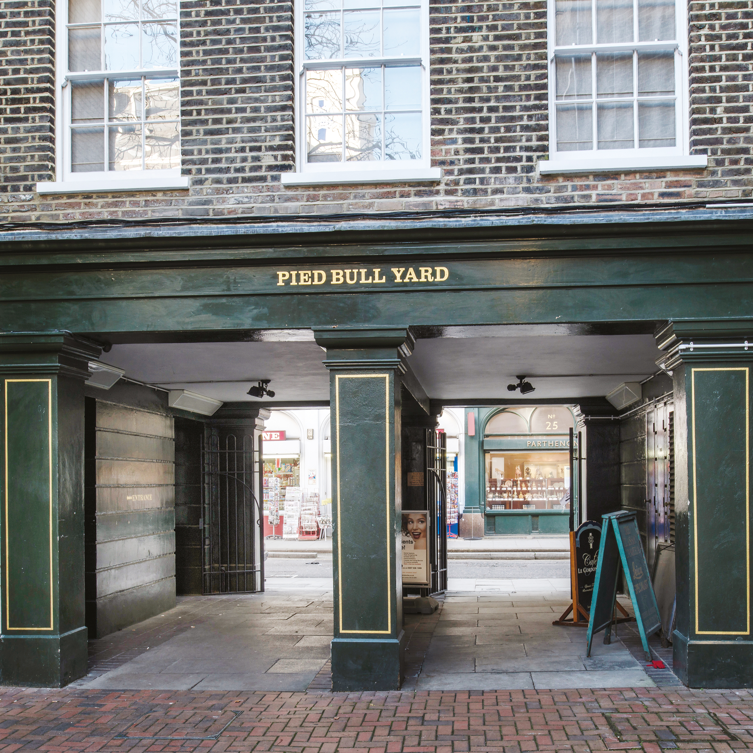 Pied Bull yard external redecorations shows painting and decorating work