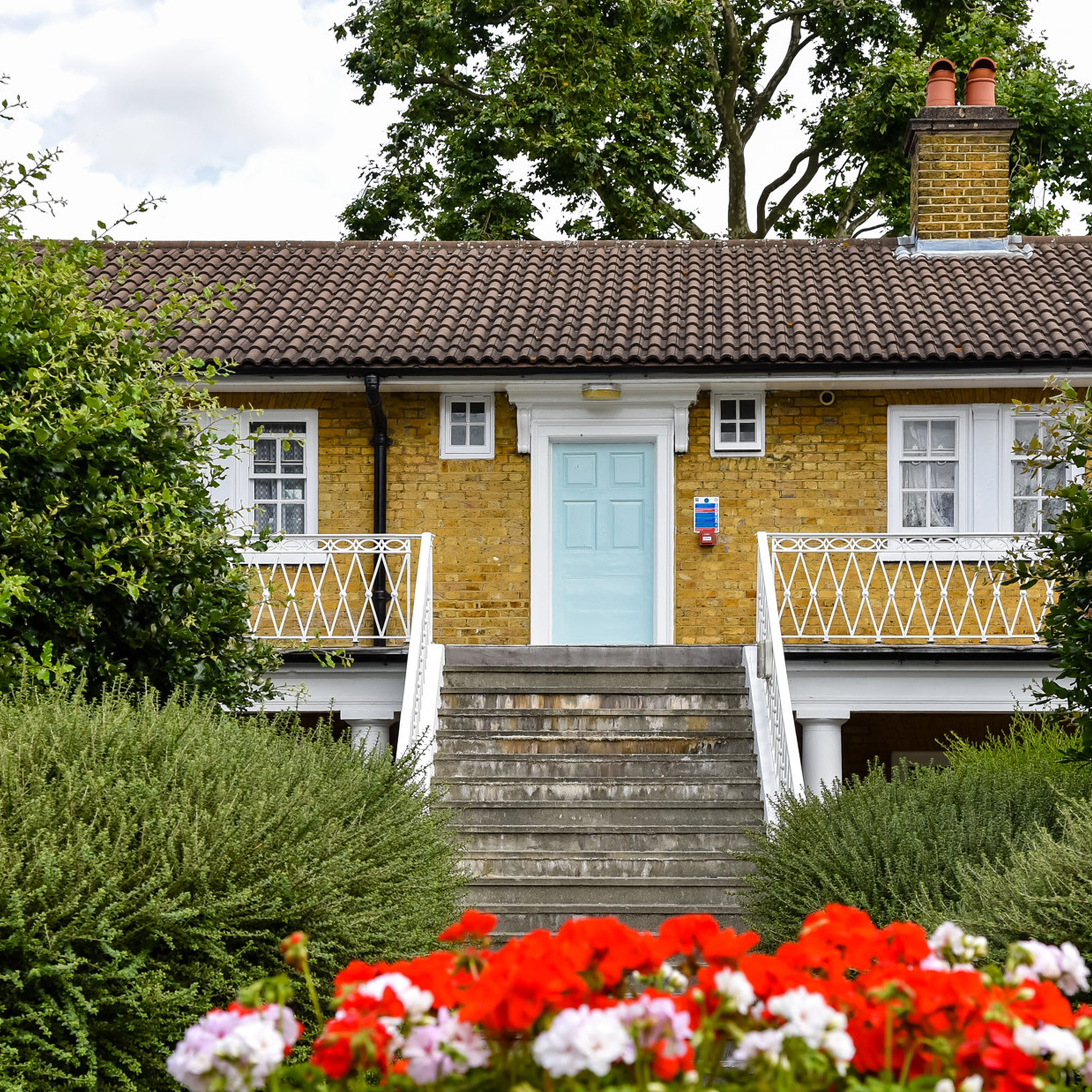 Residential property showing flowers, new painting and decorating and cyclical repairs