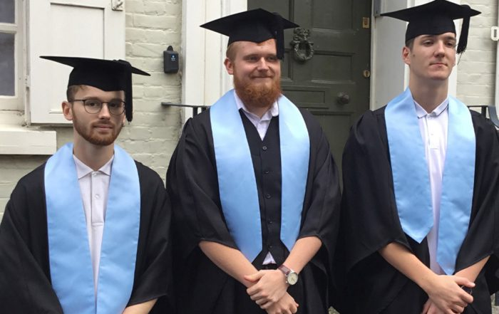 Three axis apprentices on graduation day