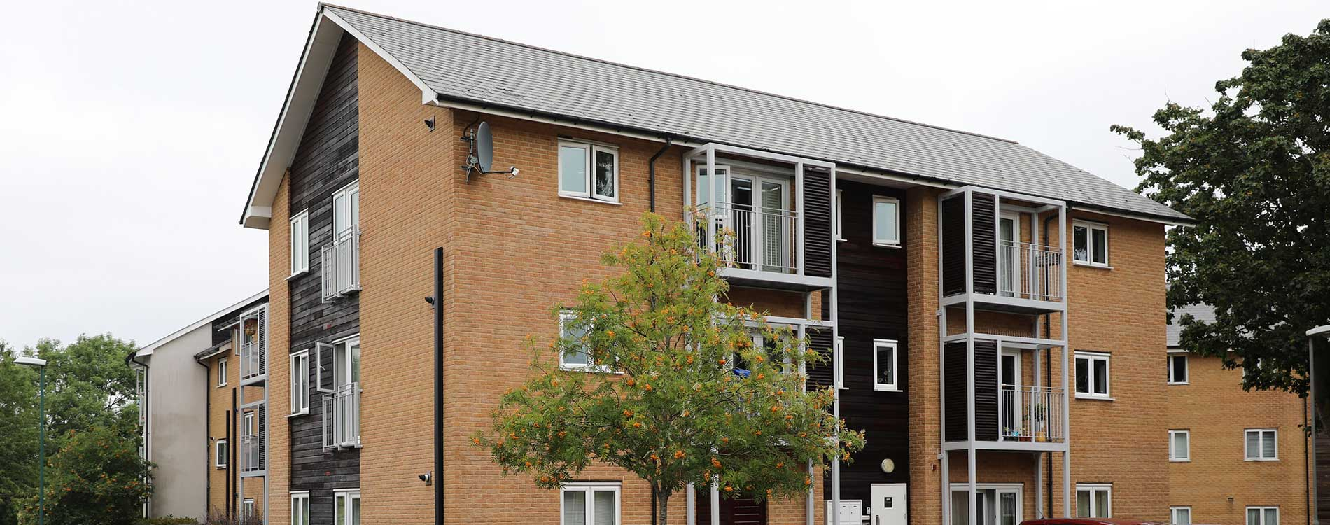 Exterior of a residential property where Axis Europe carried out minor repairs