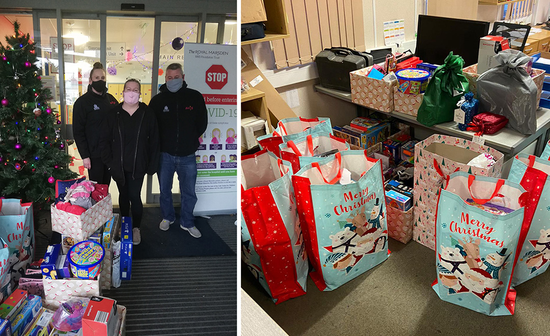 Axis's donations ready to be distributed over the festive period