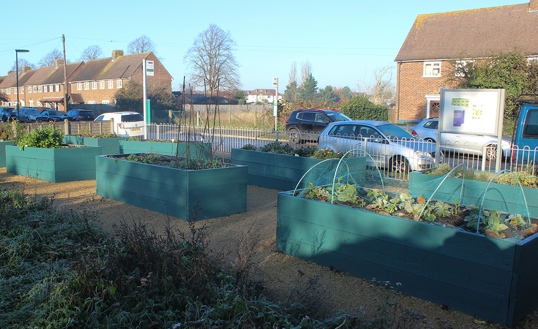 The Community Allotment once Axis carried out work