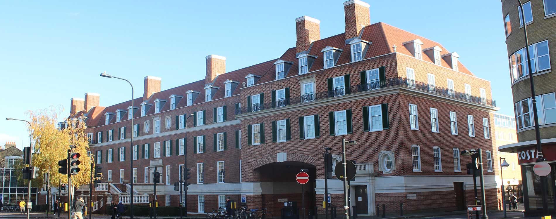 Exterior of heritage property after cyclical maintenance works on clapham common