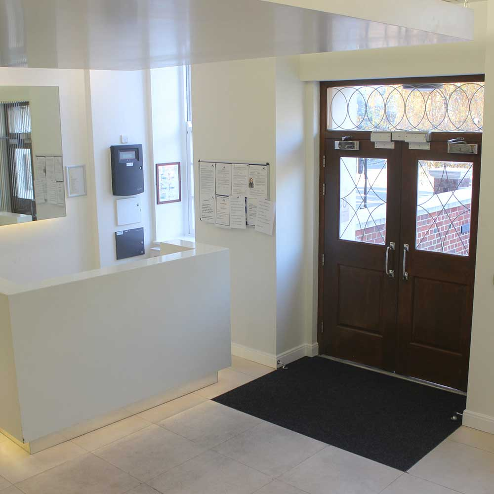Bright and open lobby inside a heritage project after axis cyclical maintenance
