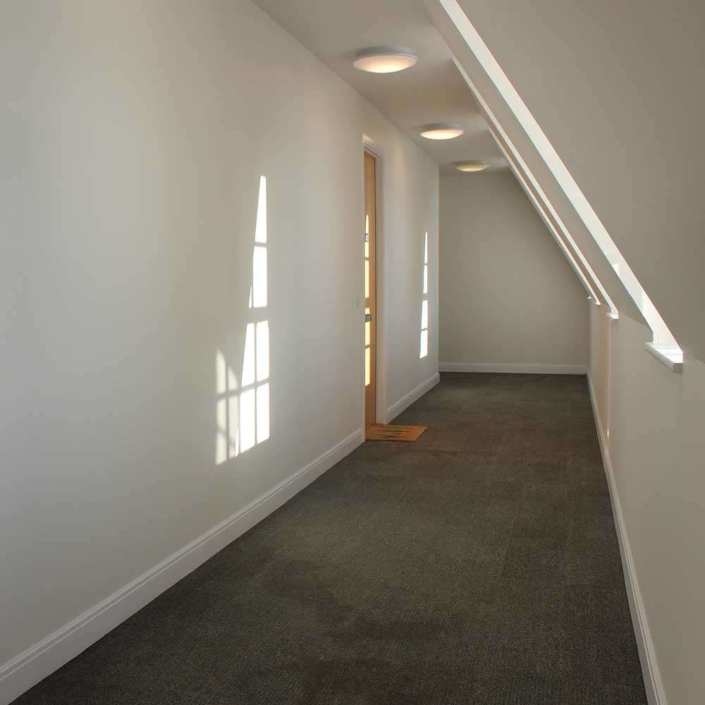 Interior hallway redecoration inside heritage project