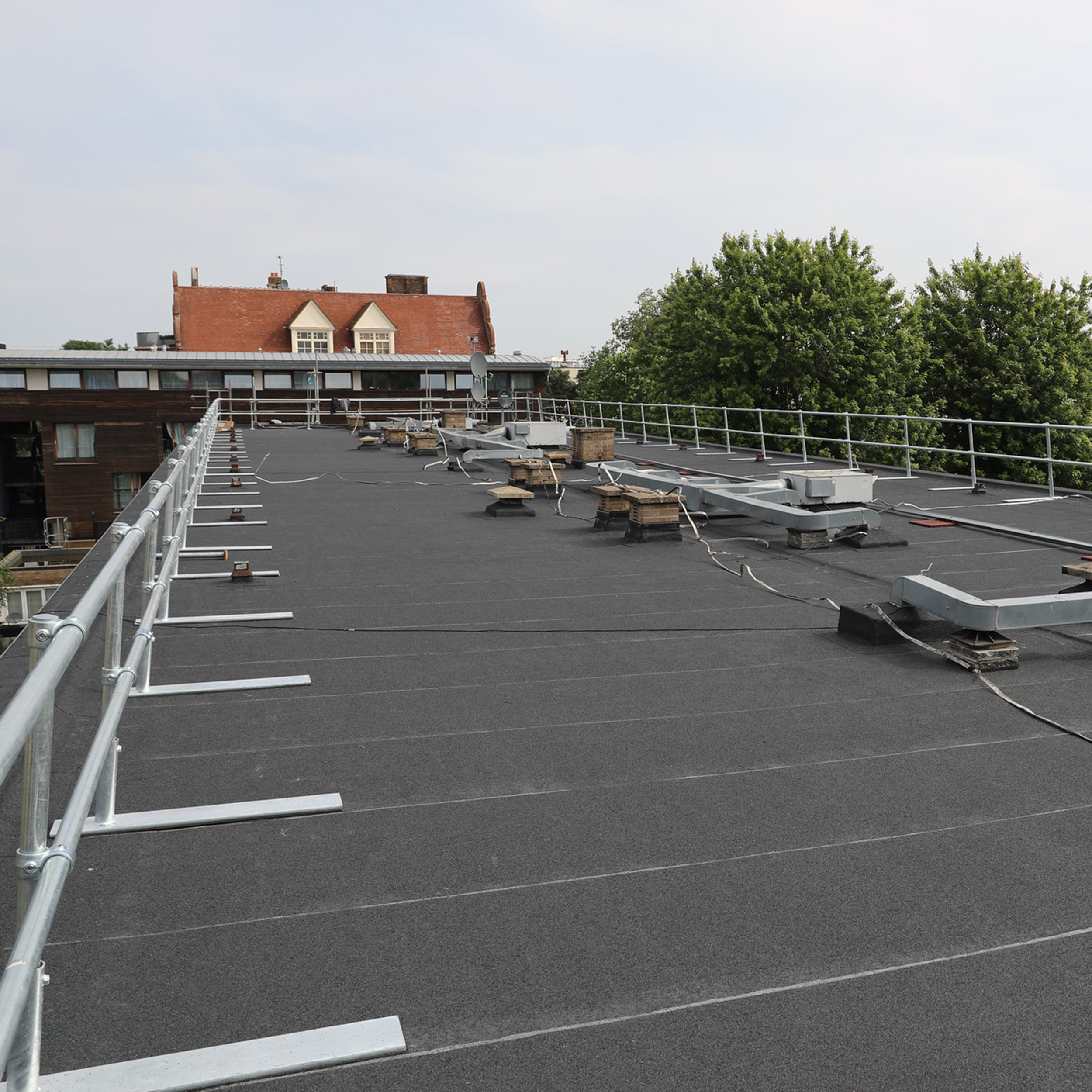 Large roof after a refurbishment